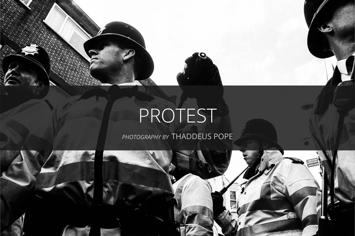 Protest Photography by Thaddeus Pope